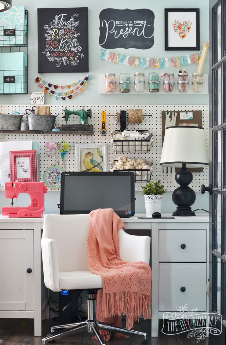 My Colourful Boho Craft Room Office Tour Video The Diy Mommy Craft Room Office Craft Room Interior
