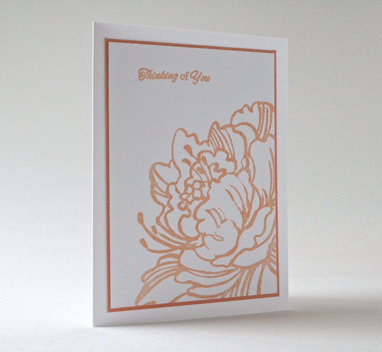 Handmade thinking of you card by beyondtheream on etsy handmade