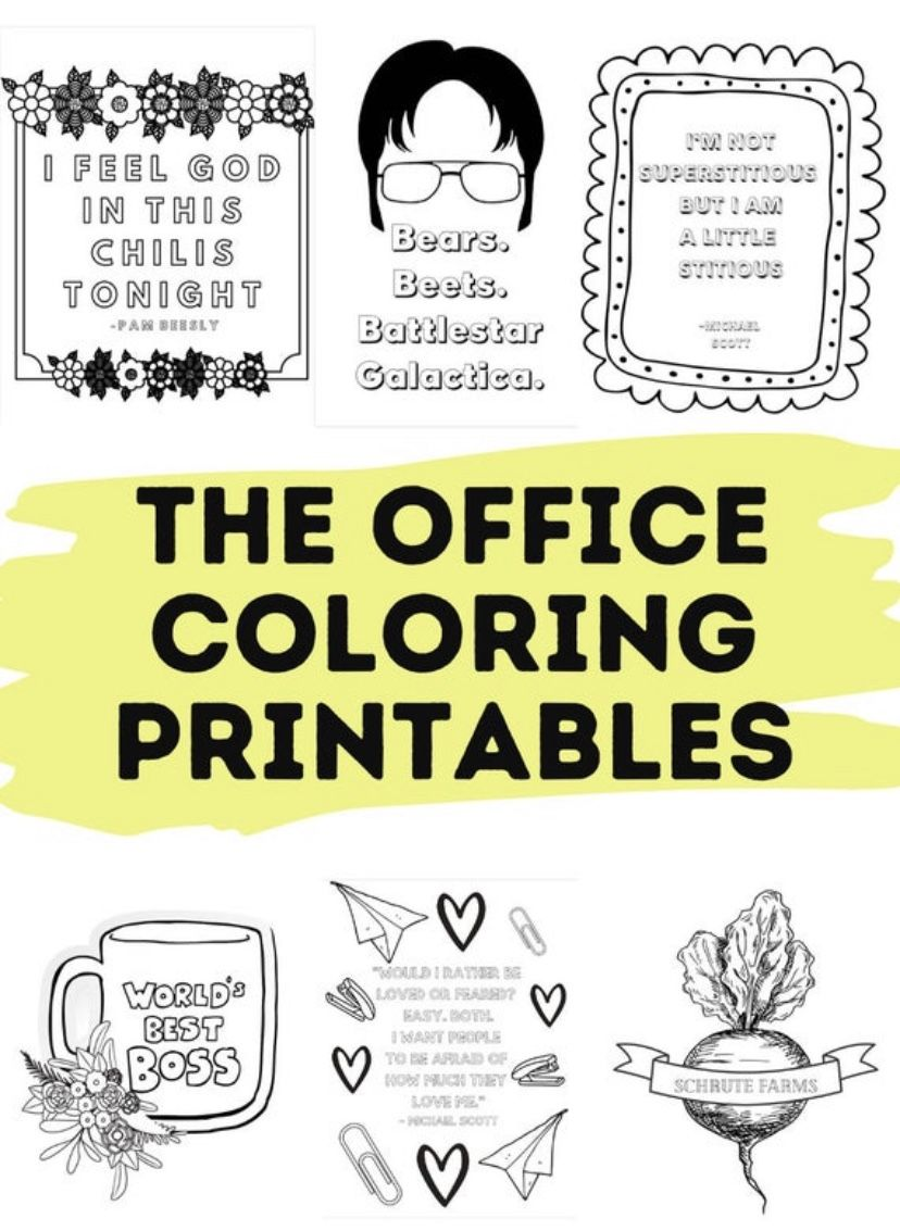 The Office Coloring Printables In 2021 The Office Coloring Sheets Coloring Pages