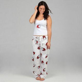 Aegean-Apparel-Womens-Plus-Size-White-Ladybug-Print-Pajamas ...