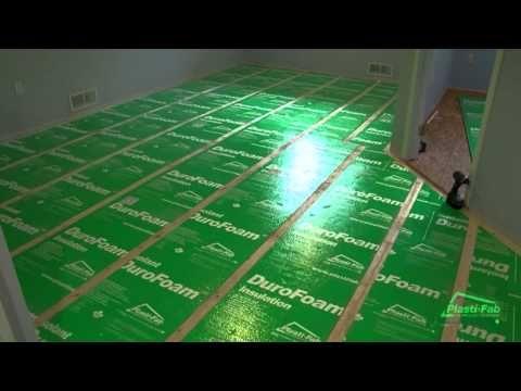 How To Insulate A Concrete Slab Mudroom Project Floor Insulation Basement Flooring Basement Floor Insulation