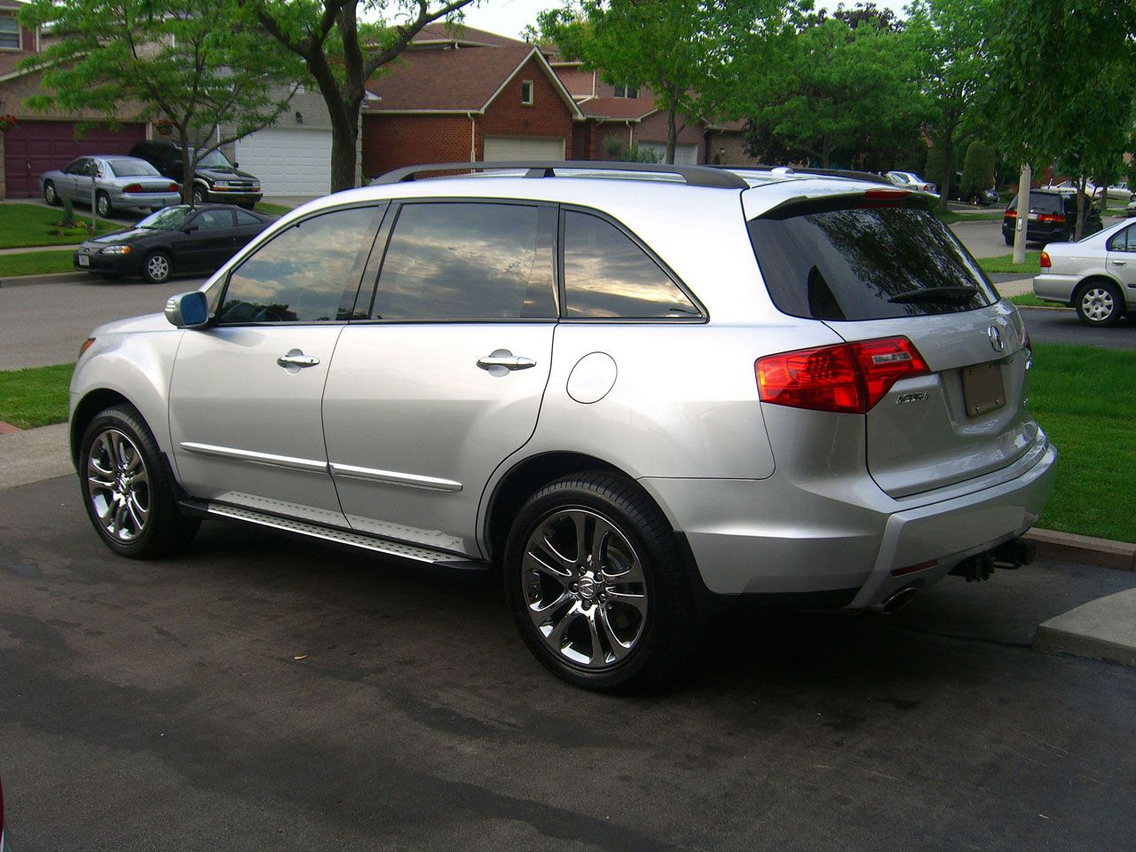 2009 acura mdx rims pics of 2nd generation mdx with aftermarket rims qtr