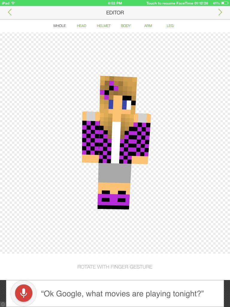 This Is ClairaMC My Friend Minecraft Skins For Girls Pinterest Dog - Minecraft skins fur ipad