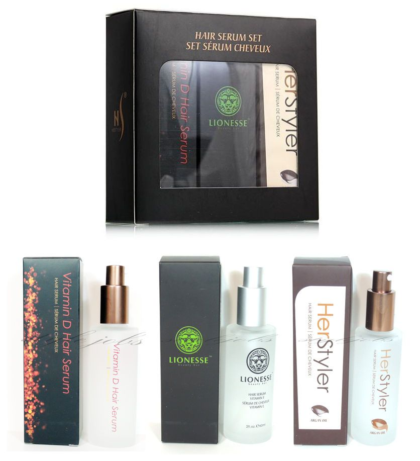 HerStyler Hair Serum Set - Lionesse Vitamin E , HerStyler Argan ...