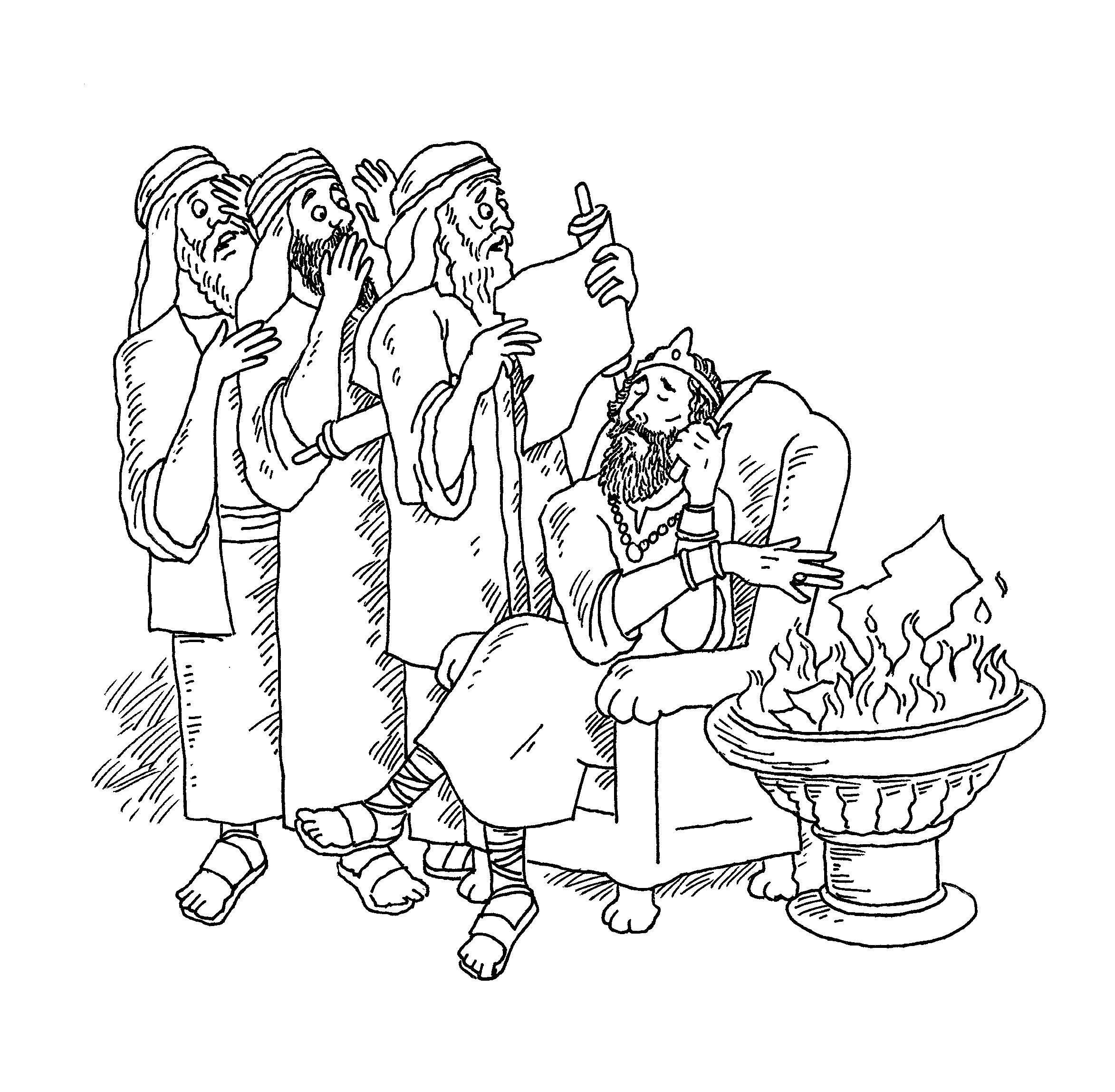 Josiah Scroll Coloring Page | Coloring Pages