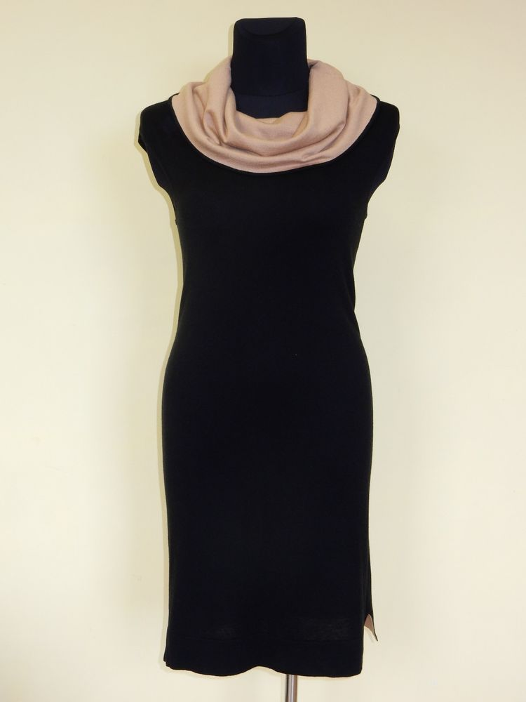 NEW! MAX MARA STUDIO DRESS WOMEN'S SILK&CASHMERE AUTHENTIC BLACK SZ.M  #MaxMara #Tunic #Casual