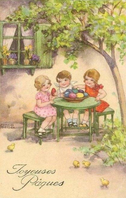 Oude kaart van Pasen   Ansichtkaart, Pasen, Oude kaarten