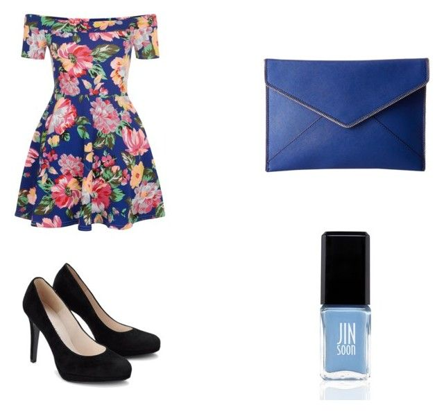 Floral Dress by turtlegirl919 on Polyvore featuring New Look, Rebecca Minkoff and JINsoon