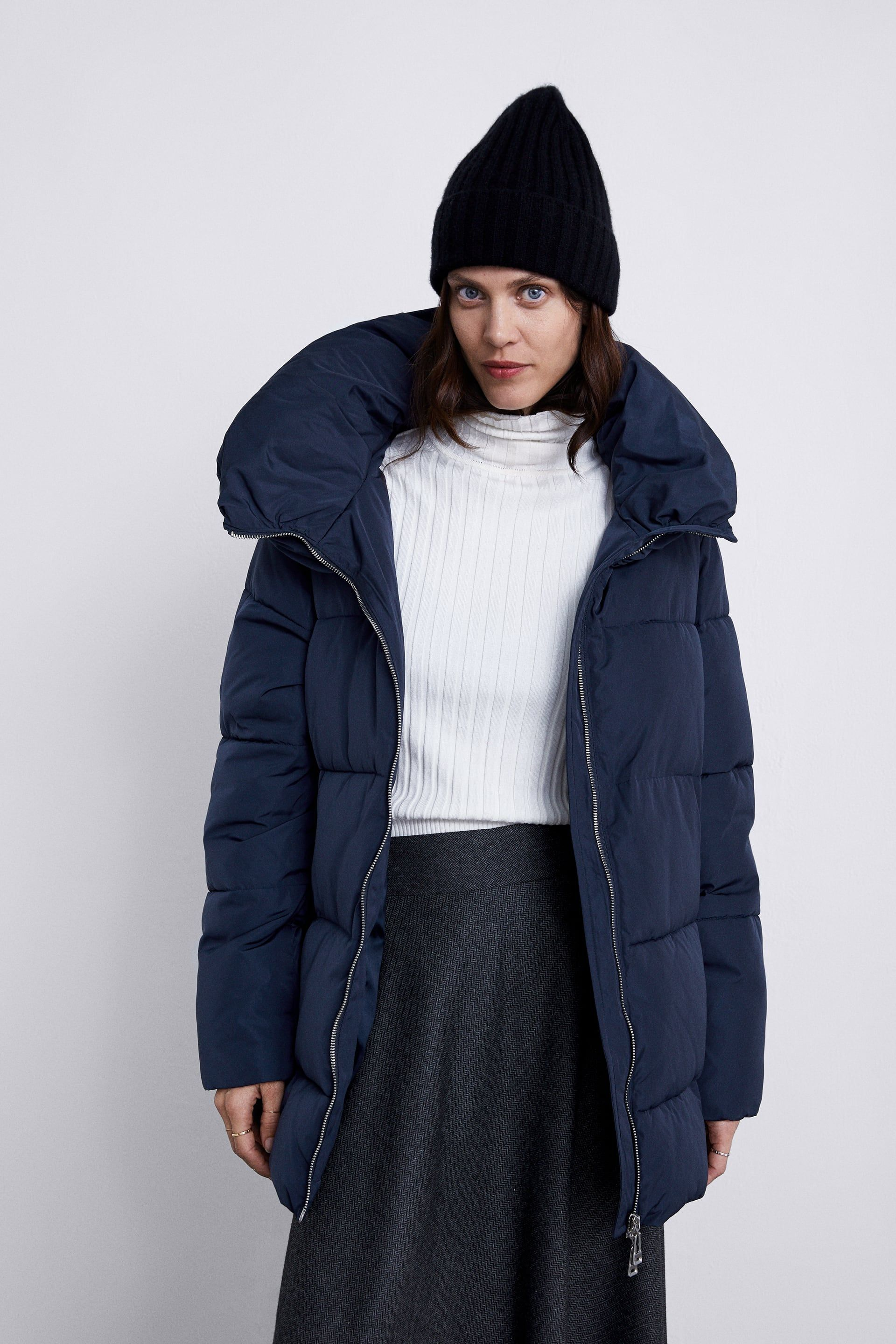 lowest discount attractivefashion world-wide free shipping Image 2 of PUFFER JACKET WITH HIGH COLLAR from Zara ...