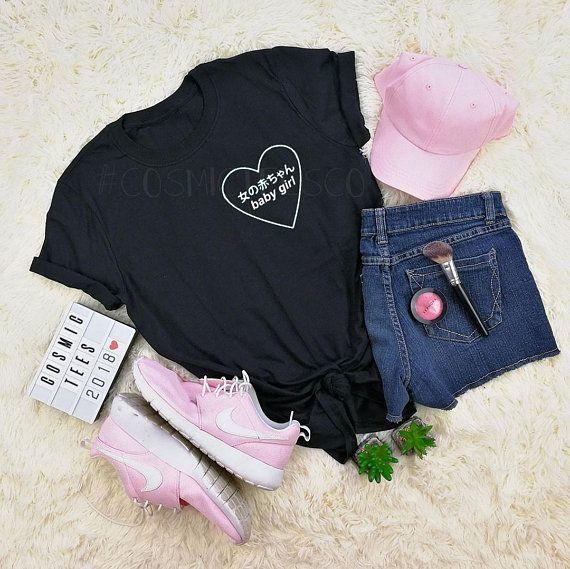 c43354da3c67 Baby girl heart japanese shirt