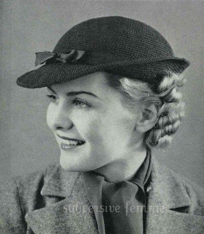 vintage crochet hat pattern | *** Beautiful FREE Crochet Patterns ...