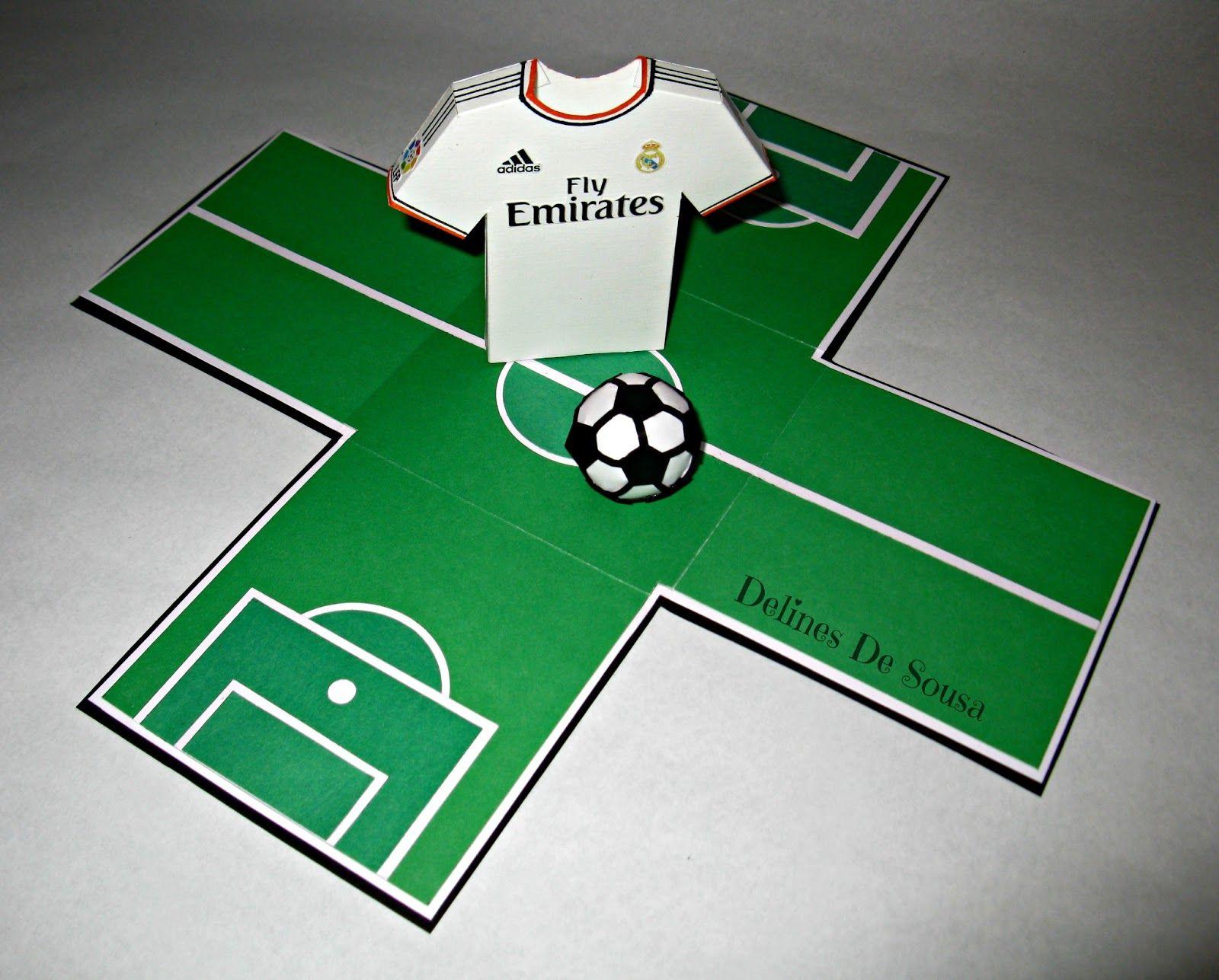 Caja Hecha a Mano Pop Up Fútbol Tarjeta Personalizada