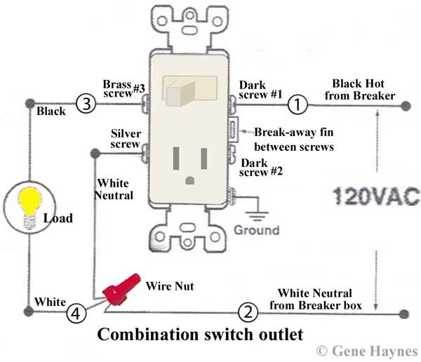 Light Switch Outlet Combo Wiring Diagram | Diagram | Wire ... on