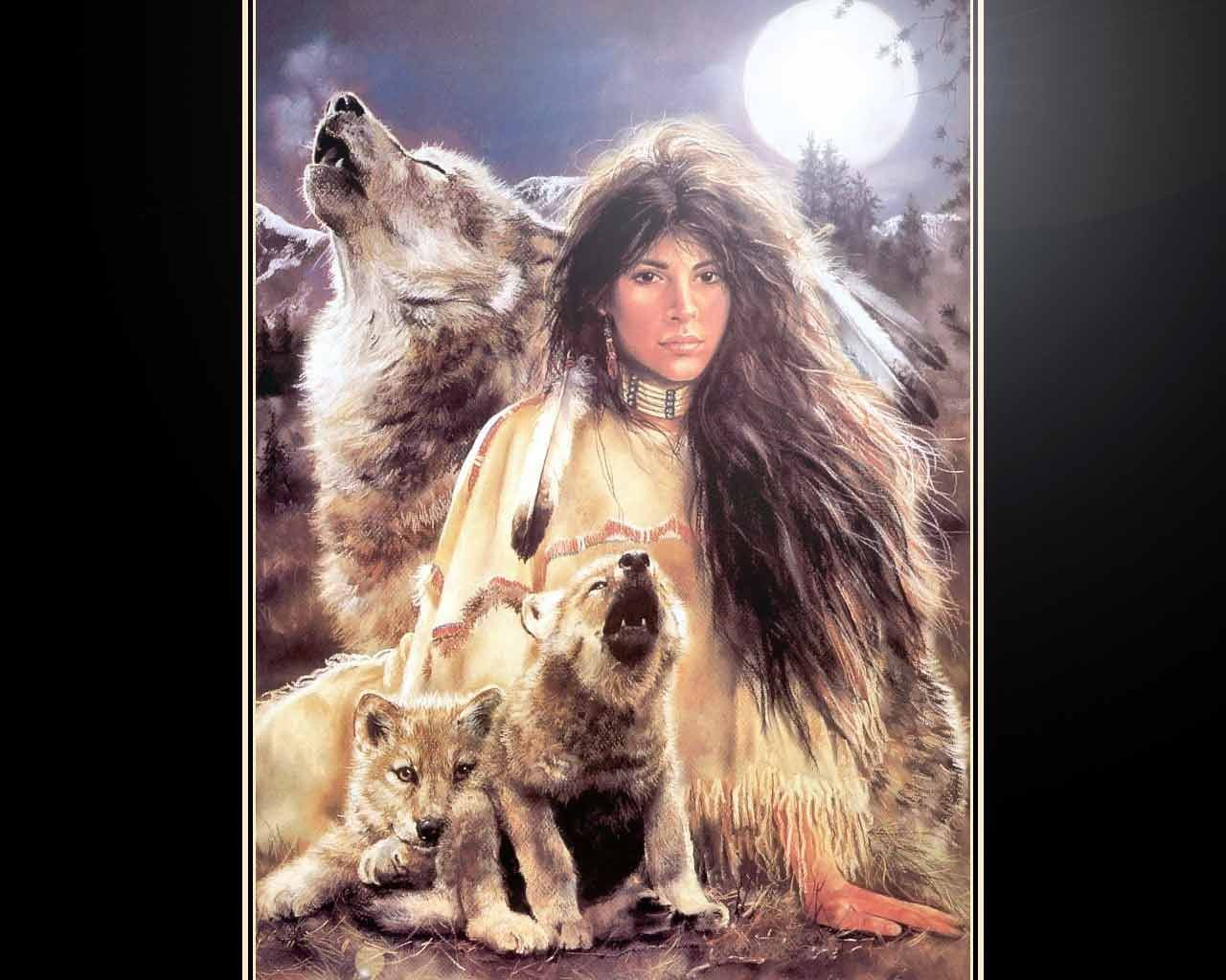 Free Wallpapers Indian Princess With Wolves Wallpaper Design
