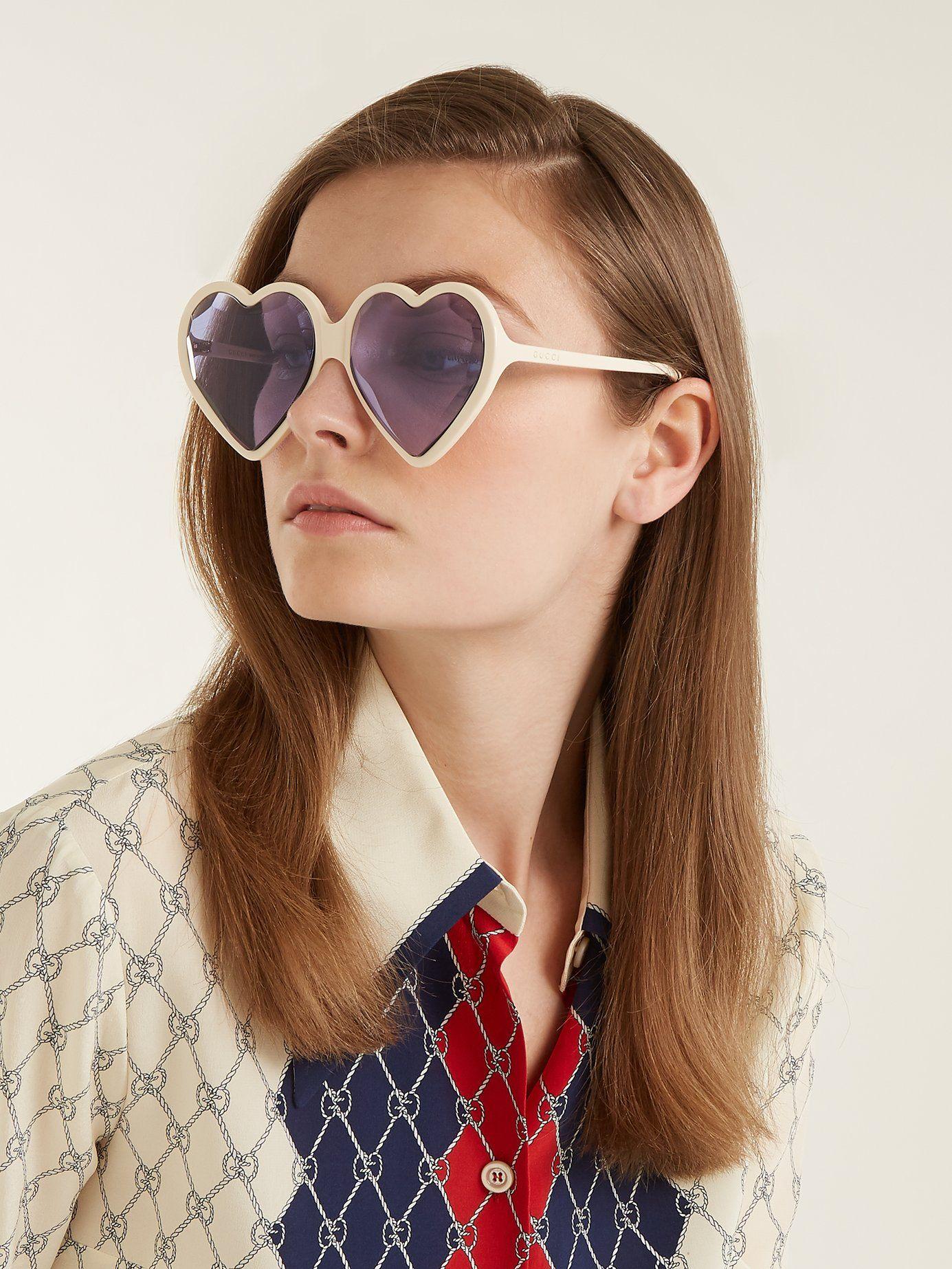 f883478774 Heart-shaped frame sunglasses