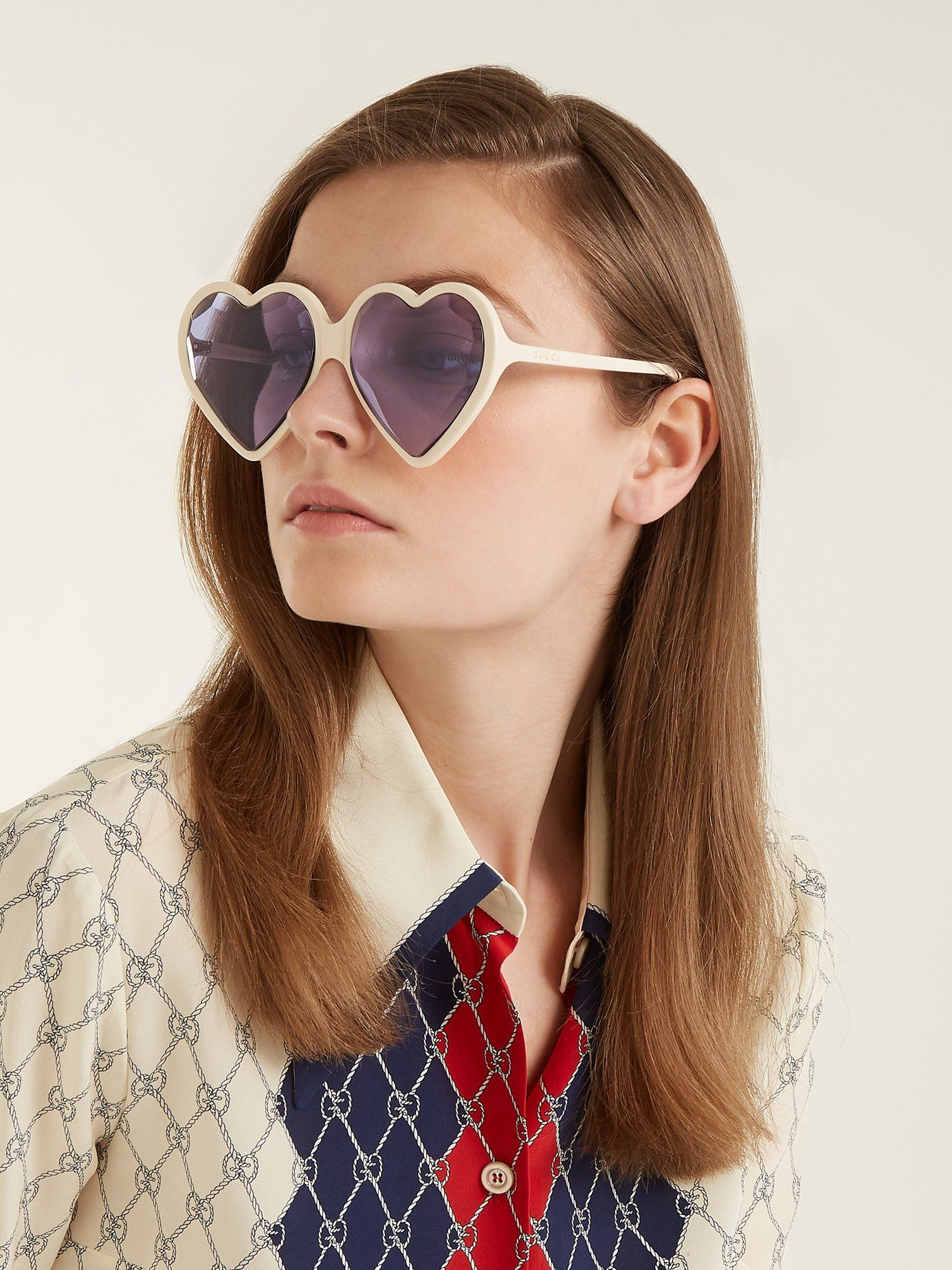 761480373c761 Heart-shaped frame sunglasses