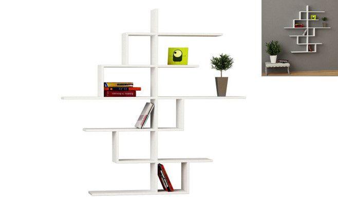 Etagere Cizgi No 4 Blanc 150 X 150 X 20 Cm Shelves Wall