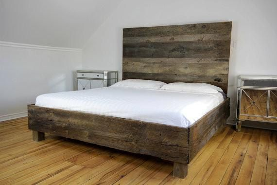 Reclaimed Wood Bed Storage Bed Modern Bed Rustic Bed Bedroom Furniture Farmhouse Bedroom Reclaimed Wood Beds Wood Beds Bedroom Furniture Beds