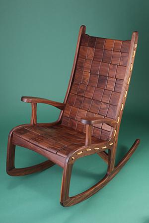Nice Vermont Folk Rocker   Custom Made Hardwood Rocking Chairs
