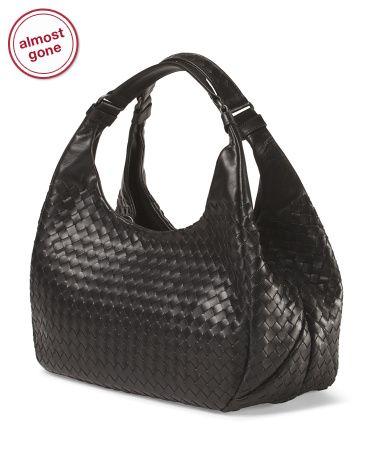 BOTTEGA VENETA Made In Italy Leather Intrecciato Campana Bag ... 9b942e6bd906f