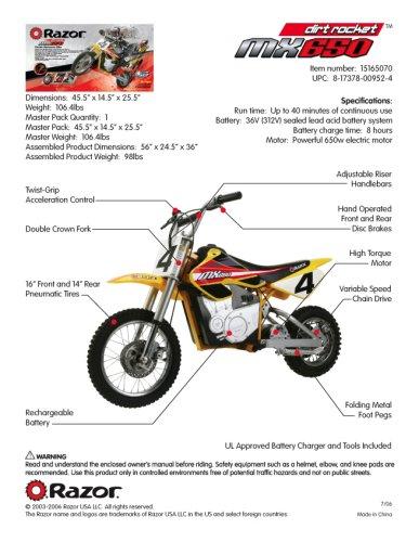 Red Razor Dirt Bike : razor, Bikes