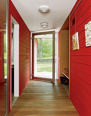 Shiplap Cedar Siding Stained Opaque Red Wraps From The