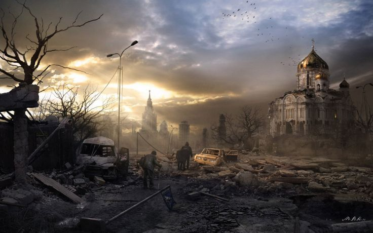 City Aeyaeyoffice Art End Of The World Nuclear War Apocalyptic Wallpaper 1920x1200 77968 End Of The World Apocalyptic Art