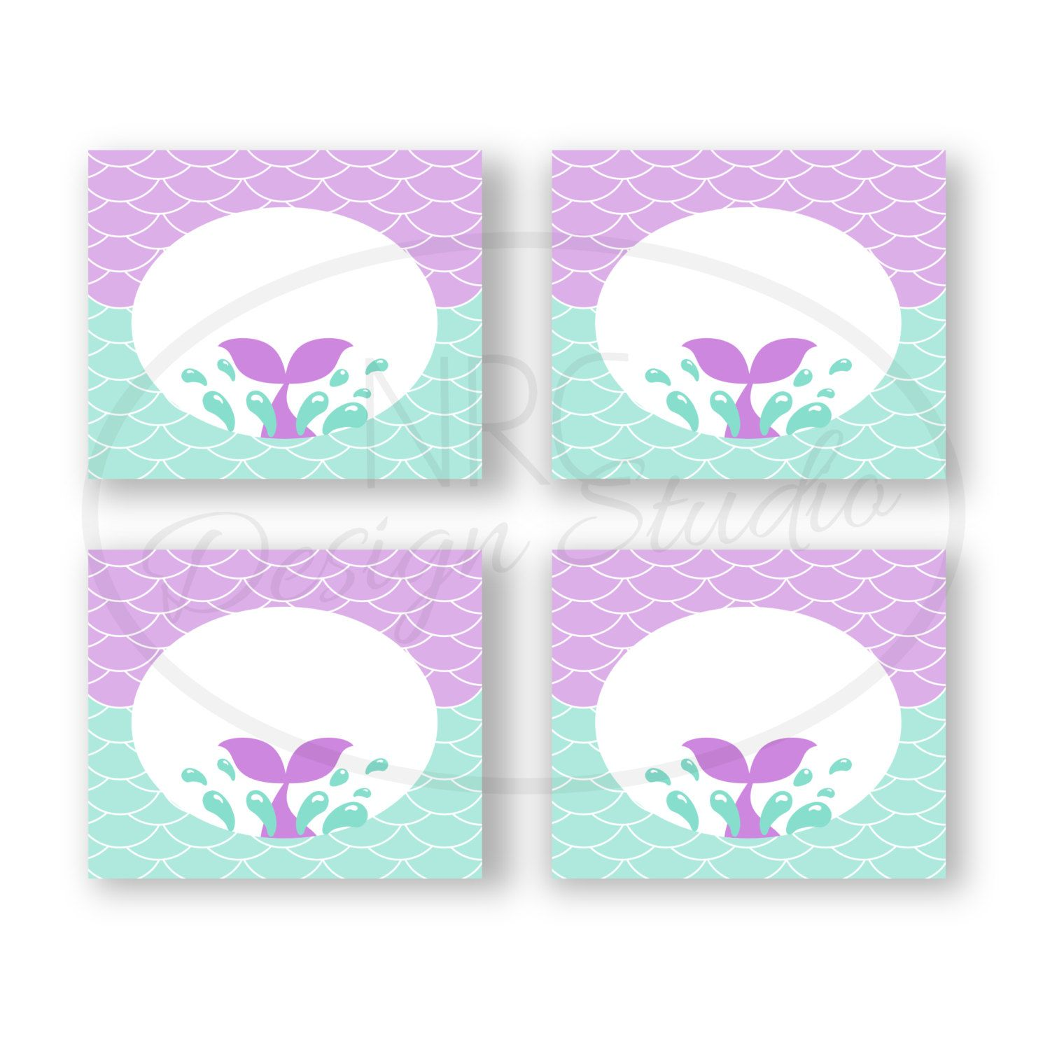 picture relating to Printable Mermaid called Mermaid Tent Playing cards - Printable Mermaid Social gathering Tent Playing cards