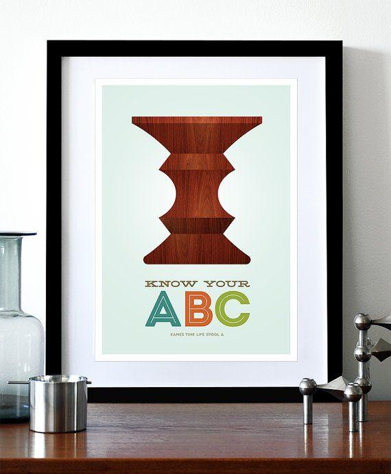 Eames poster print Mid Century Modern Herman Miller ...