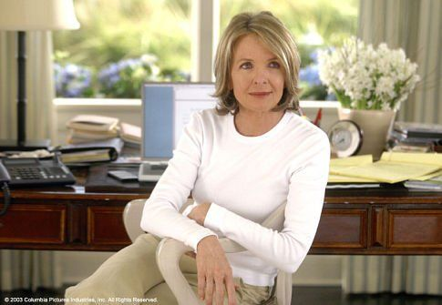 "Diane Keaton as Erica Barry in ""Something's Gotta Give.""  ""She's this high-strung, over-amped, controlling, know-it-all neurotic...who's incredibly cute and lovable!"""