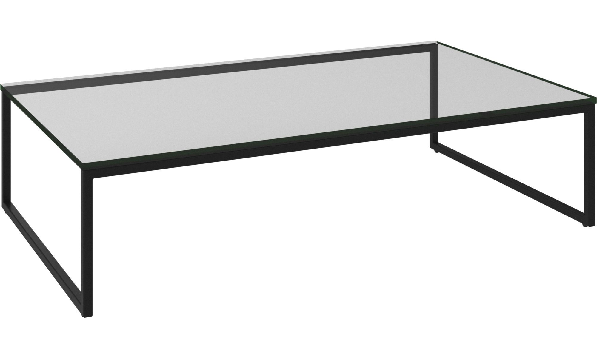Boconcept Lugo Rectangular Coffee Table With Clear Glass Top