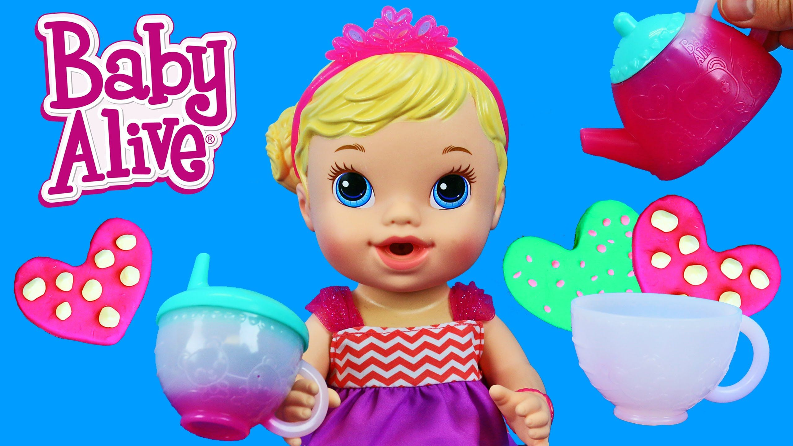 Baby Alive Teacup Surprise Baby Doll Fun Tea Party With Diy Play Doh Cookies By Disneycartoys Baby Alive Fun Tea Party Baby Dolls
