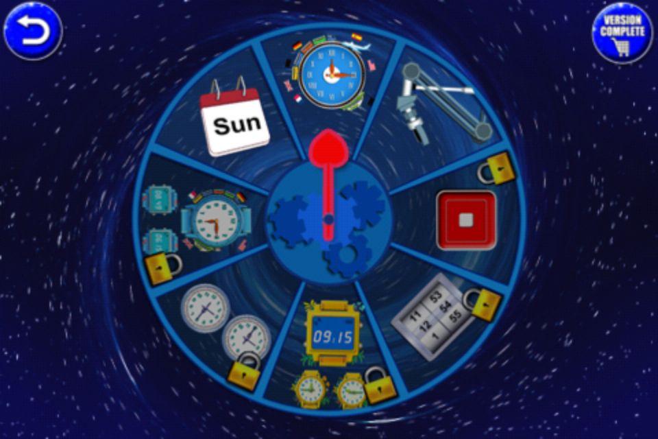 Apprendre a lire l'heure application gratuite M.WOLF avec 3 jeux gratuits dont un vraiment ludique pour les enfant construire une horloge ce qui permet de s'approprier la place des nombre dans l'horloge ainsi que de réviser les chiffres application pour iPhone