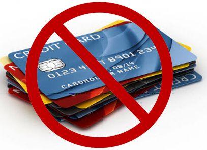 Αποτέλεσμα εικόνας για NO to credit cards