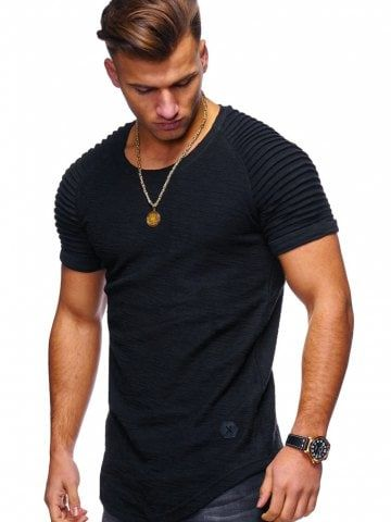 1284cffc502b Stylish Summer Solid Color Comfortable Short Sleeve T-shirt for Men ...
