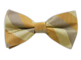 Draper Stripe - Light Champagne/Silver/Copper (Bow Ties) | Ties, Bow Ties, and Pocket Squares | The Tie Bar