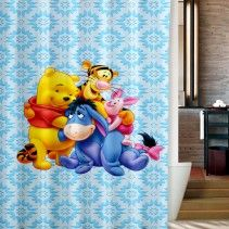 Disney Eeyore And Winnie The Pooh Shower Curtain Winnie The Pooh Curtains Curtains Cheap Shower Curtains