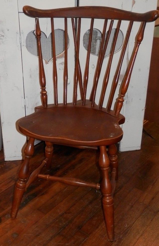 Vintage   Pennsylvania House Cherry Windsor Brace Back Style Chair #2 |  Post 1950 | Chairs   Zeppy.io