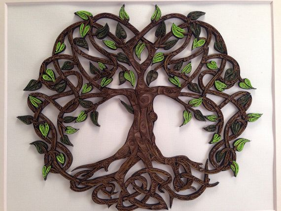 Celtic Tree Of Life quilled art Framed art 11x14 von jgaCreations