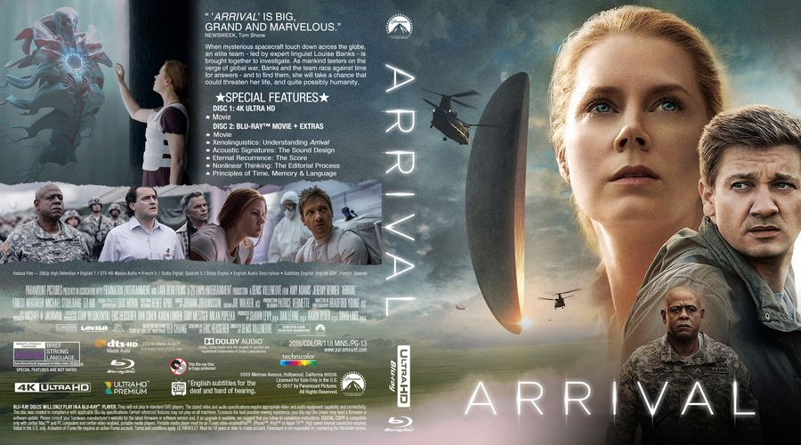 Arrival Custom Blu Ray Cover Cover Artwork Blu Ray Cover
