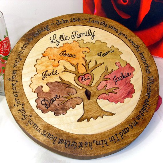 Personalized Wedding Ceremony Ideas: Family Tree Custom Designed Unity Puzzle ® Wedding Puzzle