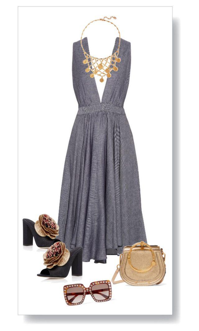 """""""Denim Dress"""" by kvogele on Polyvore"""