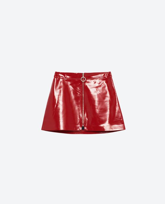 a9882f0ec Image 8 of MINI PATENT FINISH SKIRT from Zara | clothes I want so ...