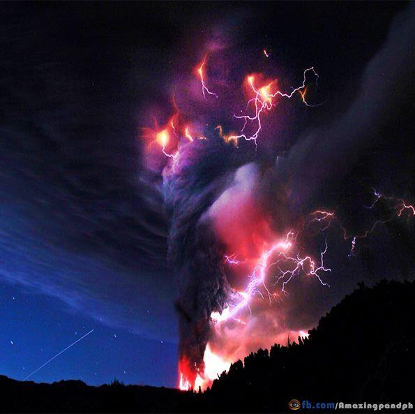 Amazing Pinteres - 17 incredible photos of volcanic lightning
