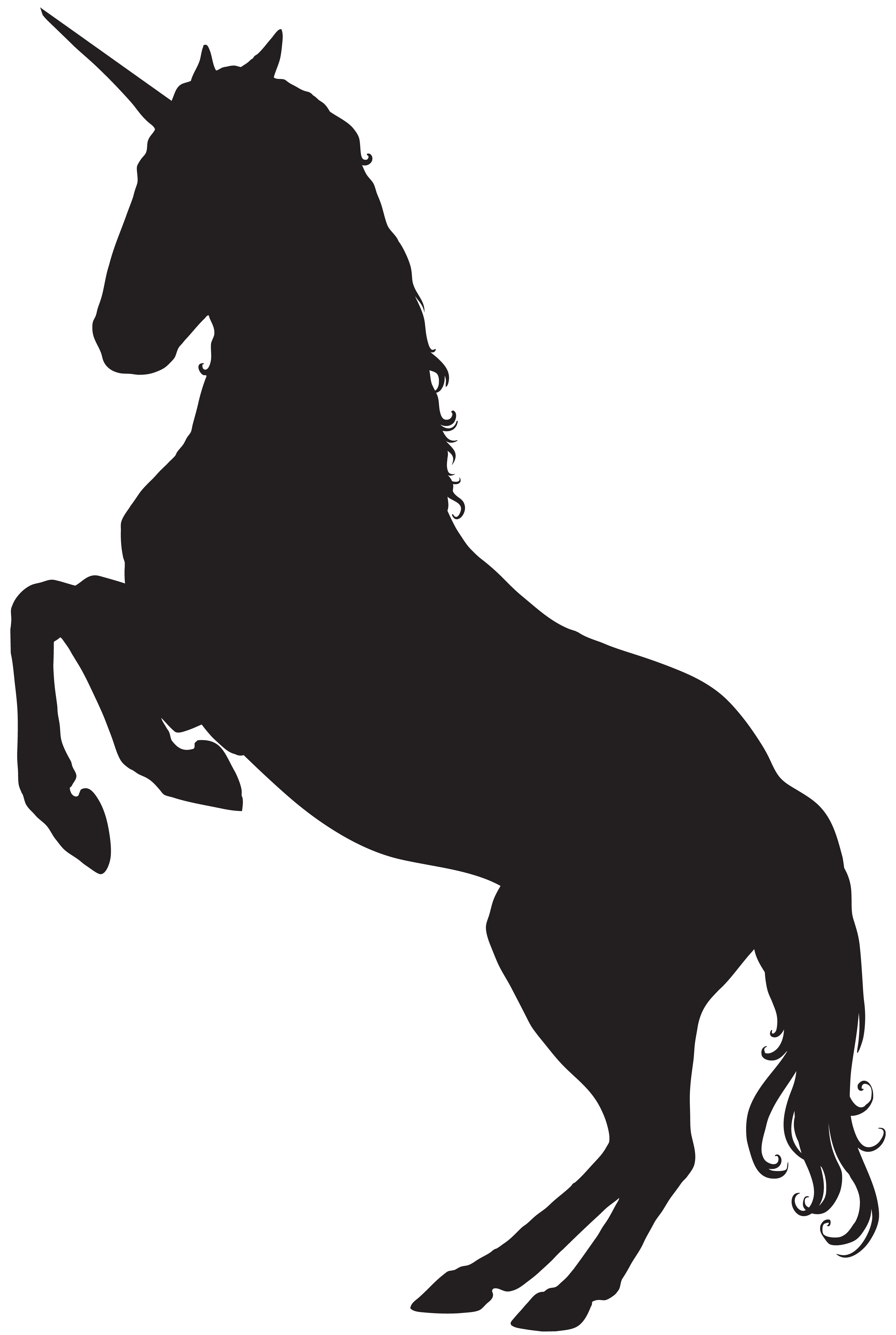 Unicorn Silhouette PNG Clip Art Image Silhouette png