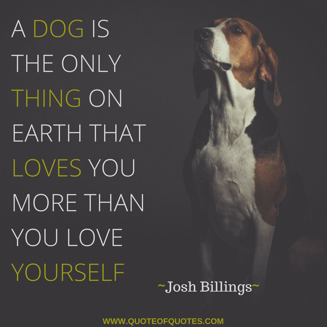 Josh Billings Quote A Dog Is The Only Thing On Earth That Loves