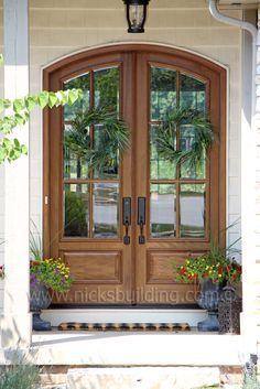 Arched Top French Door This Is Not A Fiberglass True Front DoorsDouble