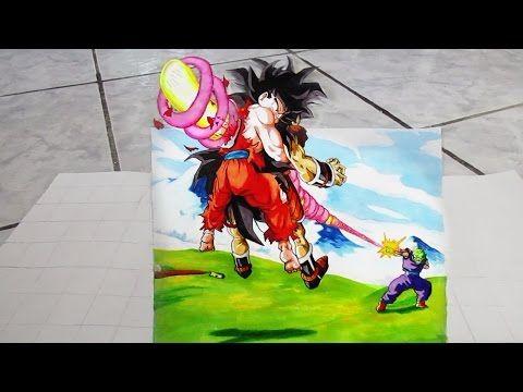 3d Drawing Dragon Ball Z Goku Spirit Bomb Dibujo 3d Goku Spirit Bomb Youtube Dragon Ball Z Drawings Dragon Ball