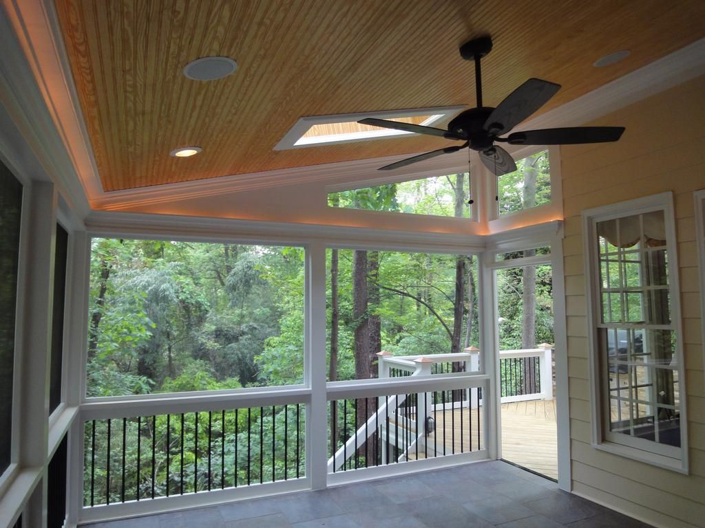 ceiling featuresthe majority of our porches have flush can lights