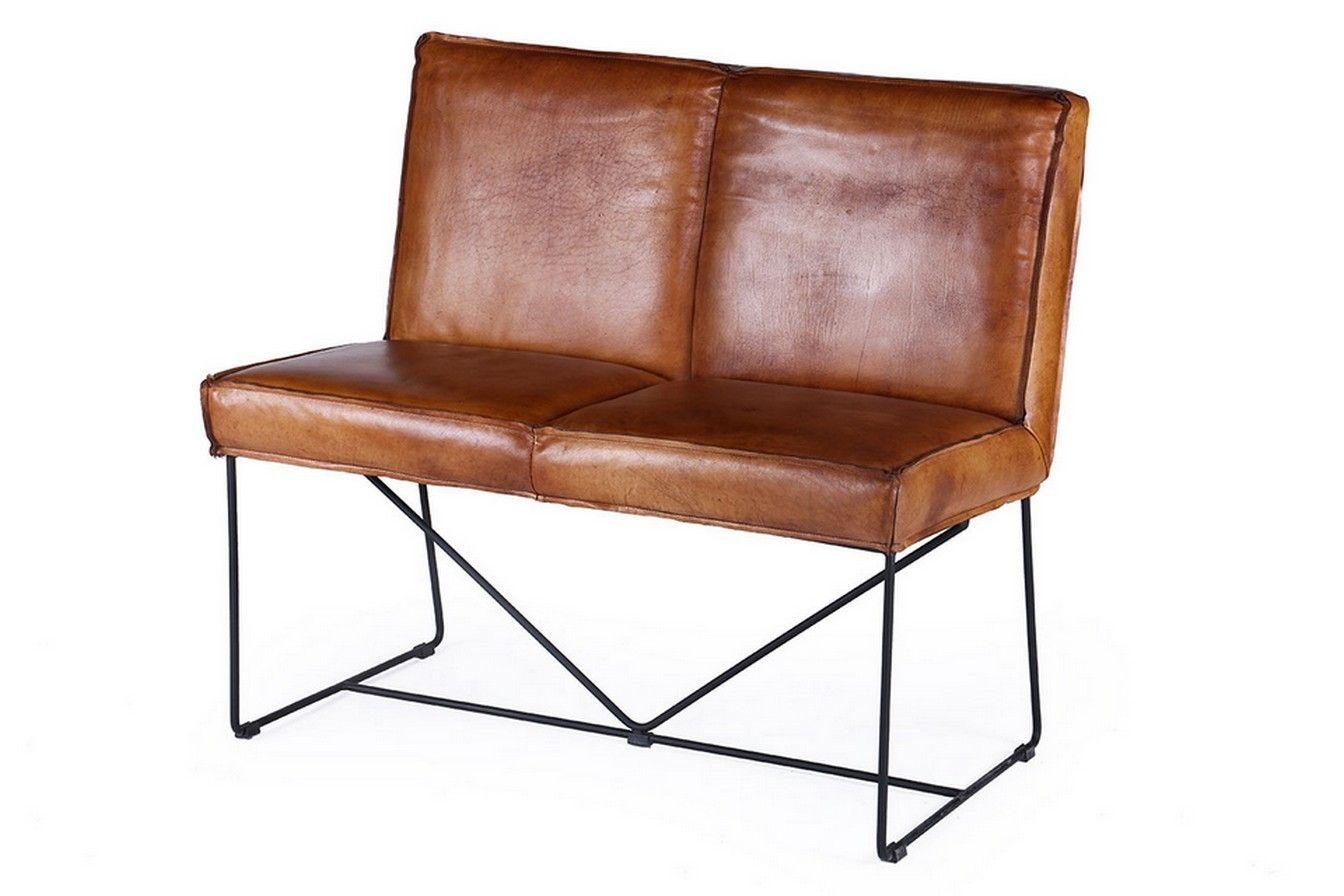 Bezaubernd Sitzbank 100 Cm Referenz Von Lederbank Dark Cognac - Sitzbänke - Sitzgelegenheiten
